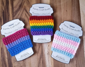 Made-to-Order 3-Set LGBT Coffee Cozies
