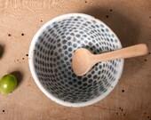 bowl danish unique vessel gray dots poterie keramik polli pots handmade studio white pottery scandinavian