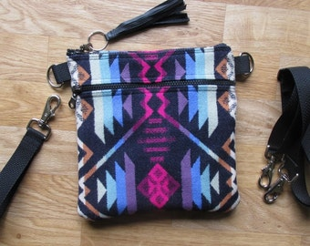 Grab N Go Essentials Cross Body Bag Interchangeable Wrist Clutch Shoulder Bag, Hand Bag, or Travel Purse Coyote Butte Navy 9x 9