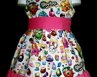 Sleeveless Summer Dress Shopkins Strawberry Kiss Lippy Kooky Cookie Apple Blossom Boutique 12/18M 24M/2T 3T/4T 5/6 Pageant New