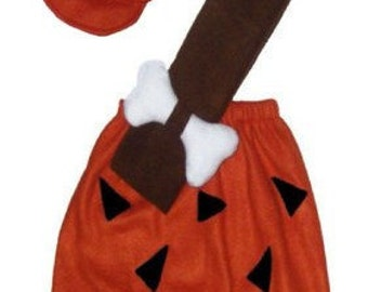 Ready To Ship 3t/4t Flintstones Bamm Bamm Halloween Costume Set Boutique PAGEANT New