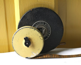 Vintage Tape measure in Yellow
