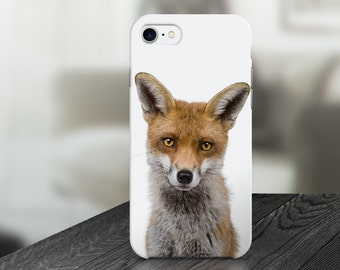 Red Fox Animal Fun Funny Cell Phone Case -  IPHONE 6, 6S, 6 Plus, 6S Plus / Samsung Galaxy S6 Edge, S6, S7 -made to order