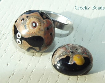 Handmade Lampwork Interchangeable Ring Toppers - Creeky Beads SRA