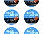 "Printable Custom Personalized Sports Cheerleader Football Labels - 3"" circles"