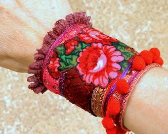 "Gipsy Bohemian ""Zinga"" Cuff Bracelet"