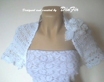 LIQUIDATION Stock SALE 30% OFF Women Shrug Bolero Wedding Bridal Accessories Hand Knitted Chic Cape Crochet Elegant Gift Capelet Bridesmaid