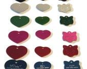 Pet ID tags. Diamond engraved personalized ID tags . Free shipping in the US.
