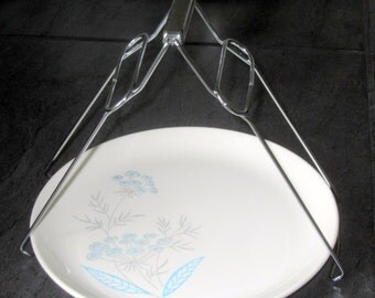 Vintage Stainless Steel Foldable Dish Plate Clip Tongs - Tongs for Lifting Hot Plate out of Steamer