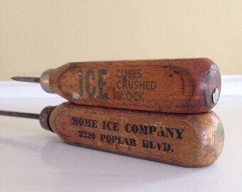 Vintage Advertisement Wooden Ice picks from California (2)