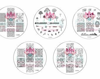 Nail stamping plate - EDM06 through to EDM10