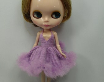 Handcrafted crochet knitting dress outfit clothes for Blythe doll # 200-50