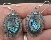 Abalone Shell Sterling Silver Earrings
