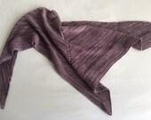 Light Purple Hand Knit Shawl