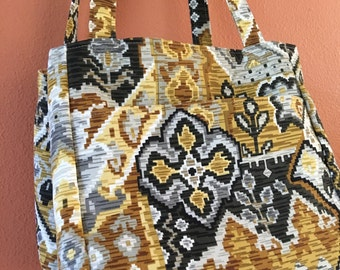 Beth 1601E  Self Standing and Expanding Knitting Bag, Knitting Bag, Knitting Tote, Knit, Yarn, Totes, Needle Art Bag, Purse, Up Cycled