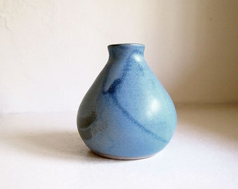 SALE! Ceramic Light Blue Pod Vase