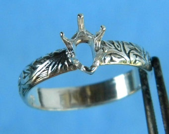 8x5 Pear Deco ring setting SIZE 8.5 Sterling Silver ring casting