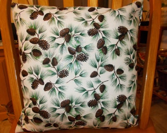 16x16 Pine tree pillow covers