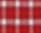Red and White Robert Kaufman Mammoth Plaid Flannel, 1 Yard