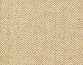 Two Tone Tan Raffia Herringbone Robert Kaufman Shetland Flannel, 1 Yard