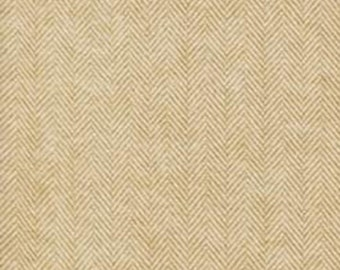 Two Tone Tan Raffia Herringbone Robert Kaufman Shetland Flannel, 1 Yard