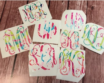 Lilly Pulitzer inspired IRON-ON MONOGRAM