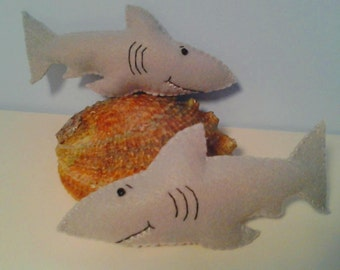 Smiling Shark Felt Ornament