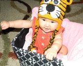 Baby girls or boys tiger hat, super cute crochet tiger hat for boy or girl, photo props