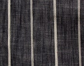 RUSTIC WOVEN peppercorn Black, cream Stripes multipurpose fabric