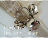 Natural Jute Dog Training Bells, Dog Potty Trainer, Paw Bells, Instructions included