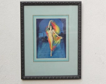 Song of India by Rolf Armstrong, Vintage Print Newly Framed, from Hudson's Big Country Store