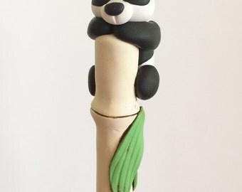 Polymer Clay Panda Ballpoint Pen