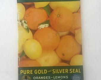 Vintage Zestful Recipes for Every Meal Pure Gold Oranges Lemons Grapefruits advertising cookbook Redland, CA