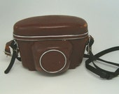 CAMERA CASE, Brown Leather Zeiss Icon Camera Case