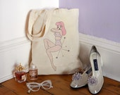 Retro Pin Up Girl Tote Bag