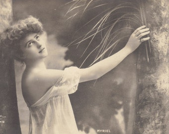 Mlle. Myriel, Guardian of the Woodland, French Postcard, circa 1904