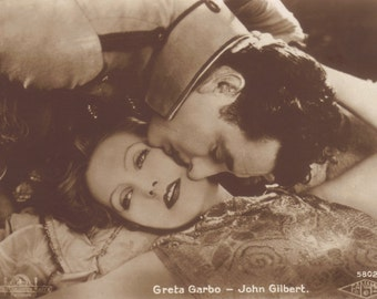 Flesh and the Devil, Greta Garbo and John Gilbert, Vintage Postcard circa 1926