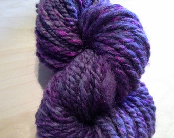 Purple Rain Double Ply Art Yarn