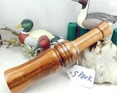 Short Reed Speckled Belly Goose Call in Tiger Wood #32A