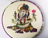 Ganesha Hand Embroidered Hoop Art