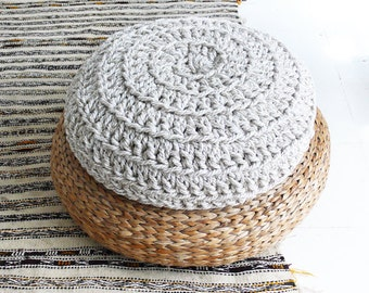 Floor Cushion Crochet - Thick Cotton -  Mix Cotton and Jute