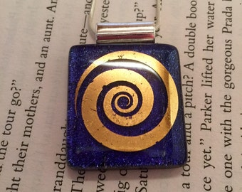 Dichroic jewelry, fused glass, Dichroic Glass Pendant, Fused Glass Jewelry, Fused Dichroic Necklace- Dichroic Glass, dichroic glass jewelry