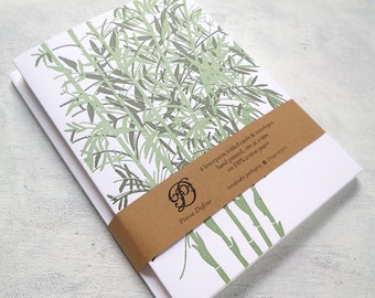 Letterpress Note Cards - Bamboo (Set of 6)