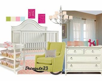 Nursery Interior Design, E-Interior Design, Online Interior Design, Home Decor, Affordable Interior Design Service, Mood Board
