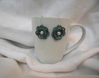 Flower Lace Earrings (Forest Dusk)