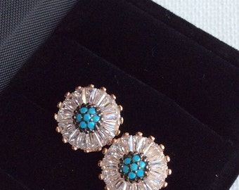 FLEUR EARRING antique diamond inspired earring