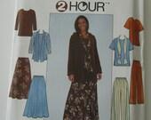 UNCUT Simplicity Pattern 8226 Misses Top, Skirt, Pants & Scarf Sizes L,XL