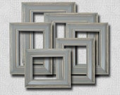 Picture Frame Set Picture Frame Gray Grey Wall Art Frames Shabby Chic Decor Rustic Picture Frames Wedding Decor Photography Nursery Decor