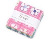 """Grow 2 1/2"""" Squares Mini Charm Pack by Me & My Sister for Moda, 42 pieces"""