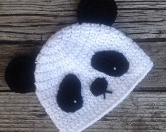 Crochet Child's Hat,  Panda Hat, Toddler Hat, Childs Halloween Hat, Children's Halloween Costume, Panda Costume